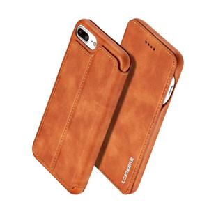 Top quality para iphone x xs xs max xr case para iphone 7/8 luxo carteira de couro suporte de pele magro fino case capa projeto