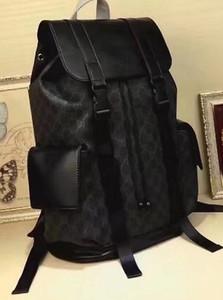 ENVÍO GRATIS CLÁSICO hombres de cuero de marca de lujo mochila negro punto de impresión cubierta de la tapa mujeres mochilas deportivas cadena favorita BOLSOS