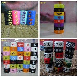 13 Type Silicone Vape Bands Anti Slip Ring 미끄럼 방지 고무 밴드 Mechanical Pouches 링 SMOK TFV8 e-Cig 액세서리