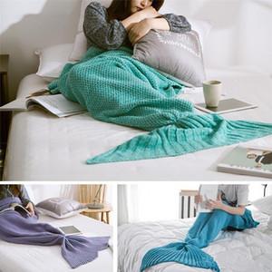 Mermaid Tail Mermaid Tail Divano per adulti Coperta di maglia Coperta per trapunta Coperta per sacco a pelo