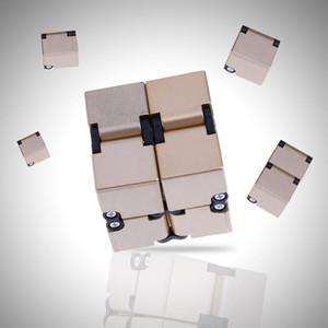 Juguete de la novedad infinito Cube Cubo de la persona agitada bebé cuadrado mágico Anti Stress TDAH juguete autismo Rompecabezas Juguetes para adultos Niños de plástico Cubo Mágico 2018