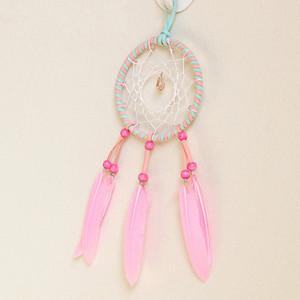 Creative Dream Catcher Pingente Pena Wind Chime Artes E Ofícios Decoração Rosa Handmade Dreamcatcher 6 8xr C