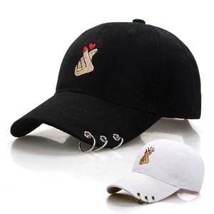 Negro adulto anillo dedo amor ajustable anillo de hierro Gorras de béisbol Snapback Cap Casquette sombreros equipado Casual Gorras papá sombreros
