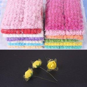 Mini Mousse Rose Fleurs Artificielles décoration de la maison DIY Pompon Guirlande Décorative De Mariée Fleur Faux Fleur 144pcs