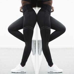 Yeni patlama modelleri yüksek bel düz ofset yoga pantolon Kadınlar rahat spor yüksek bel tayt spor