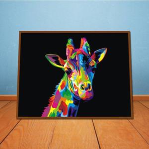 Moderna astratta animale giraffa dipinto a mano HD stampa Wall Art pittura ad olio di alta qualità Home Decor su tela Multi Size a56