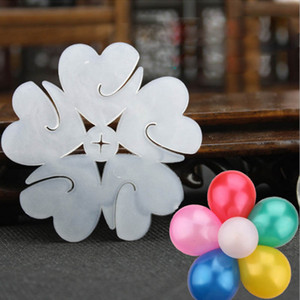 50 шт. / лот воздушный шар моделирование печать клипа воздушный шар палочки слива цветок галстук латекс воздушный шар уплотнения клипы свадьба украшения поставки
