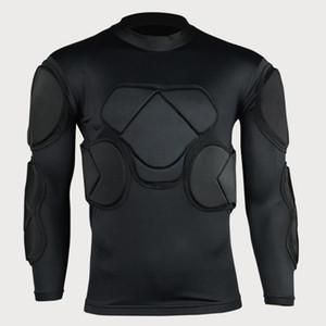 Portero de fútbol Deportes Seguridad Codo Rodilla del protector acolchado EVA Esponja Pantalones Defender anticolisión cortos Camisas Protector de pecho