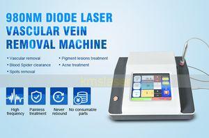 Máquina vascular da remoção da veia da aranha da remoção do laser portátil do diodo da tela de toque 980nm