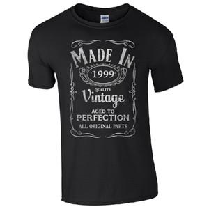 Made In 1999 T Shirt Nascido 18º Aniversário Presente Idade Do Aniversário Presente Engraçado Dos Homens Do Vintage