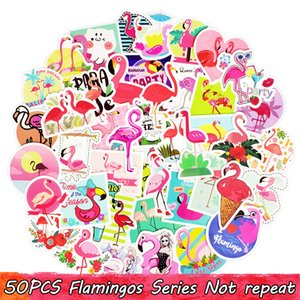 50PCS Serie Flamingo Summer Amorous Feelings Sticker Adesivi Dream Dream Teen DIY Skateboard Mobile Guitar Dresser Home Decor Trend Sticker