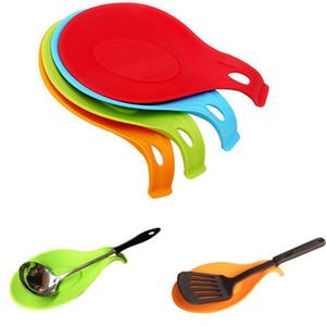 Resistente cucchiaio stuoia forcella resto utensile spatola strumento da cucina chic utile isolante tovaglietta novità colorante utensili da cucina BBA324