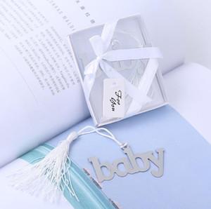 Metal baby shower bookmarks borlas buho corazón bear blue design favor regalos de boda al por mayor 24pcs / lot envío gratis