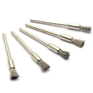Elektronik sigaralar karbon mevduat temizleme fırçası Atomizer özel ısıtma tel bobinleri temizleme aracı Küçük metal fırça