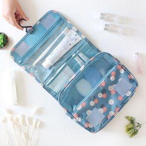Bolsa de almacenamiento de envío recorrido de la manera que cuelga la bolsa de maquillaje mujeres de los hombres de la cremallera Tolitery kit de cosmética de la belleza Organzier gota