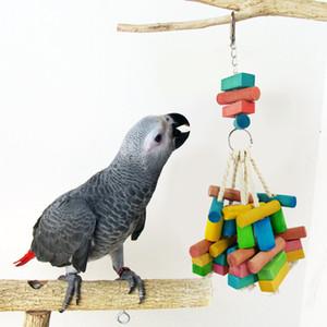 Juguete de pájaro de madera natural para mascotas Loro de roer mordedura de la chuchería Juguete juguetes para mediano grande hámster de aves Conejo de Tokio Ardilla Decoración del hogar