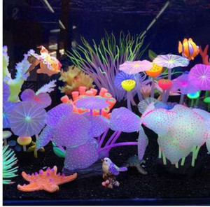 11 Leaves Silicone Artificial Fish Tank Aquarium Coral Plant Ornament Pets Underwater Decors