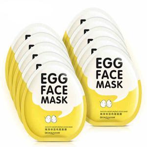 BIOAQUA яйцо маски для лица Управления маслом скрасить завернутый Маска Нежный увлажняющий маска для лица Уход за кожей увлажняющая маска