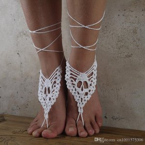 Skull Barfuß Sandalen Hankmade Crochet Barfuß Sandalen, Nude Schuhe, Fuß Schmuck, Braut, viktorianischen Spitze, Sexy, Yoga, Skelett Fußkette.