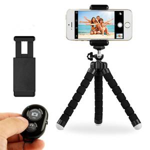 Esnek selfie sopa tripod Telefon Tutucu Evrensel Cep Telefonu Araba Kamera Için Braketi Standı Bluetooth Uzaktan Shutter ile Özçekim Monopod