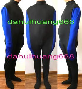 Siyah / Mavi Likra Mumya Takım Catsuit Kostümleri Uyku Tulumları Unisex Iç Çamaşırı Kol Ile Mumya Catsuit Kostümleri Uyku Tulumları DH271