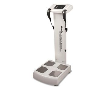2018 Professional analisador de gordura corporal corpo analisador corpo analisando dispositivo incluído A4 impressora frete grátis
