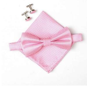 neue Ankunft Männer Krawatte Set Bowties Bow Ties Manschettenknöpfe Einstecktuch Taschentuch