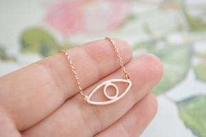 глазное яблоко ожерелье злой дух дьявол злой глаз человека ожерелье простой счастливый Турция глаз геометрические круглый ожерелье
