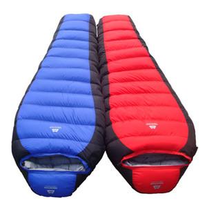 Saco de dormir de pluma gruesa menos 25 grados deportes al aire libre pato abajo saco de dormir camping