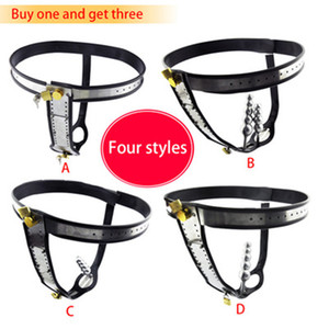 4 Kind Free Combination Stainless Steel Female Underwear Chastity Belt,T-type Chastity lock,Virginity pants,Adult Game,CPA183-New