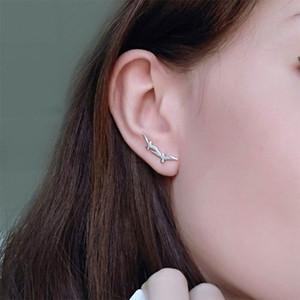 Tardoo Authentic 925 Sterling Silver Hook Earrings for Women Consecutive Triangle Modeling Stud Earrings Brand Fine Jewelry Y18110110