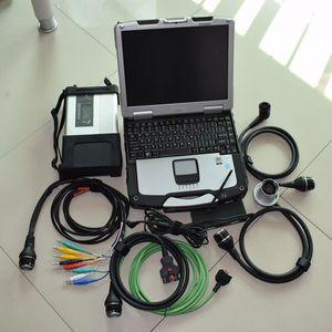 Полный чип для MB STAR C5 для MB SD Connect компактный 5 диагностический инструмент с функцией Wi-Fi + CF30 ноутбук жесткий диск 320gb win7