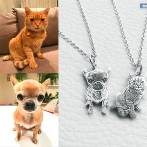 Privado personalizado dog necklace Foto personalizado pet colar animal jóias 925 sterling silver for birthday gift