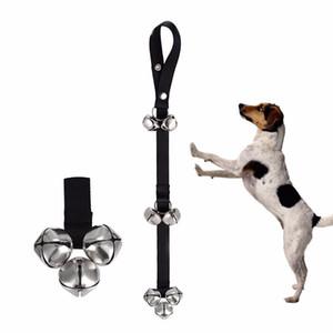 애완용 개를위한 가정용 Tellering Doorbell Rope 조절 가능한 나일론 Extra Loud Bells 가이드 로프