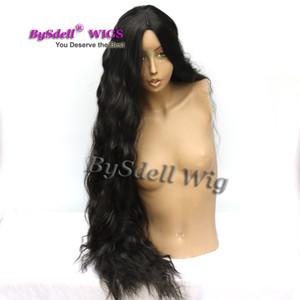 الإناث الباروكة الاصطناعية نيكي minaj رقيق واقعية البركان طويل مجعد الشعر 40 بوصة طويلة متموجة الذرة الساخنة المعكرونة لفة طويلة شعر مستعار