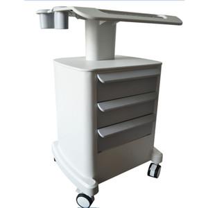 New Professional Trole Roller Móvel Carrinho Médico com desenha Montado Stand Titular para Salão de Beleza SPA HIFU Máquina