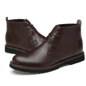 Men Boots Footwear Men Low Top Genuine Cow Leather Winter Shoes Brushed Warmest Handmade Shoes Size38-46