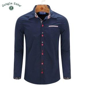 ZONA JUNGLE Dimensione europea! 2016 Camicie da uomo nuove a maniche lunghe camicia casual 100% cotone camicie da uomo FM097