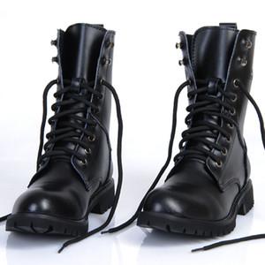 bottes militaires en cuir véritable véritable britannique de Martin bottes hommes automne chaussures en cuir bottes de moto paires mode de hommes
