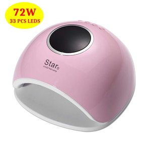 Timistory 72W UV LED Nail Lamp For Manicure 33 Pcs Leds Nail Dryer For Curing Gel Polish Tools With Infrared Sensing