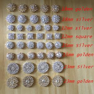 Fabrika Fiyat 50 adet / grup Gümüş Ton Temizle Kristal Rhinestone DIY Bezemeler Flatback Düğmeleri Saç Aksesuarları Dekorasyon