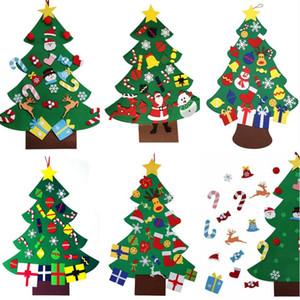 Bricolage feutre arbre de Noël avec Pedant ornements de Noël Cadeaux de Noël mur portes suspendues décoration Accessoires Manuel d'enfants