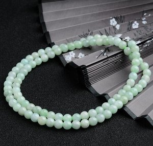 Мьянма нефрит натуральный а товары светло-зеленый нефрит нефрит бусины цепи ожерелье завод Оптовая