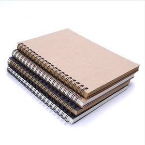 레트로 나선형 코일 스케치북 크래프트 종이 노트북 스케치 그림 일기 여행 저널 학생 노트 패드 책 메모 스케치 패드 학교 supplie