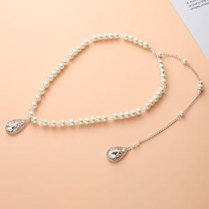 Perlen Kristall Sex Halskette Lange Quaste Nackten Rücken Kette Anhänger Braut Brautjungfer Schmuck Geschenk für Frauen Party Hochzeit Weihnachten