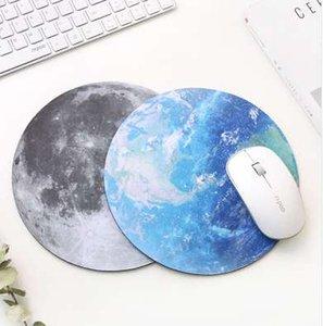 Planet Series Mat 220 x 220 x 3 mm Alfombrilla de ratón circular con estilo Earth / Venus / Mars / Mercury / Jupiter / Pluto / Rainbow moon / Black moon