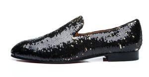 2018 uomini nuovi di zecca vestito scarpe paillettes glitter scarpe da sposa scarpe da uomo d'affari bling bling bling