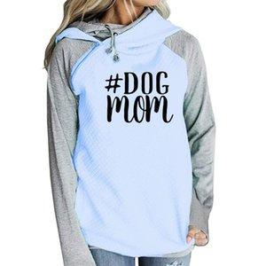 Sweety Dog Mom Nova Moda Hoodies Mulheres Kawaii Camisola Femmes Impressão Padrão Grosso Feminino Cropped E Camisolas