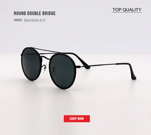 новые оптовые женские солнцезащитные очки модный дизайнер дамы винтаж ретро бренд дизайнер женские спортивные солнцезащитные очки круглый Двойной мост топ Gafas