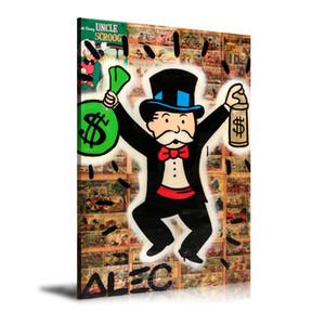 HD Imprimé Alec Monopoly Peinture à l'huile Décoration murale Art sur toile Alec Monopoly Unframed